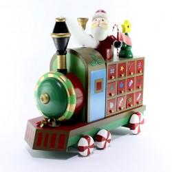 Wooden Toy Train Advent Calendar 30x27cm