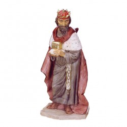 Silicone Resin White Wiseman for Nativity 65 cm