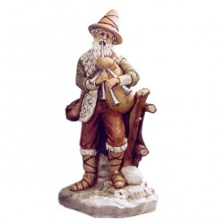 Silicone Resin Bagpiper for Nativity 65 cm