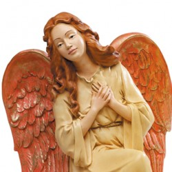 Silicone Resin Kneeling Angel for Nativities 65 cm