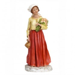 Silicone Resin Woman with Flowers for Nativity 65 cm