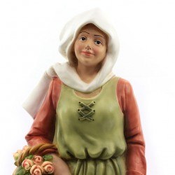 Silicone Resin Woman with Flowers for Nativity 40 cm