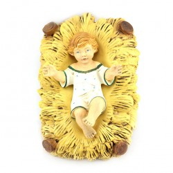 Silicone Resin Baby Jesus with Cradle for Nativity 65 cm