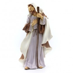 Silicone Resin St Joseph for Nativity 40 cm