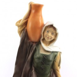 Silicone Resin Woman with Amphorae for Nativity 40 cm