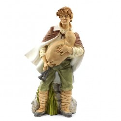 Silicone Resin Bagpiper for Nativity 40 cm