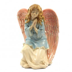 Silicone Resin Kneeling Angel for Nativities 40 cm