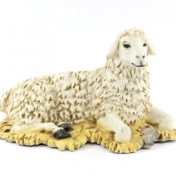 Silicone Resin Sitting Sheep for Nativity 40 cm