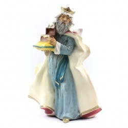 Silicone Resin White Wiseman for Nativity 40 cm