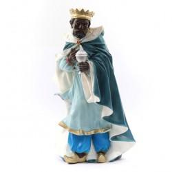 Silicone Resin Black Wiseman for Nativity 40 cm
