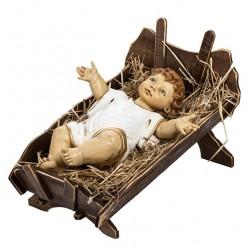 Baby Jesus with Wooden Cradle 125 cm Fontanini