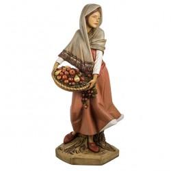 Resin Woman with Basket 125 cm Fontanini