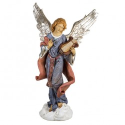 Resin Standing Angel with lyre 125 cm Fontanini