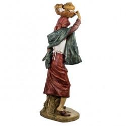 Resin Woman with Bread Basket 125 cm Fontanini