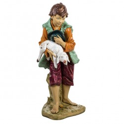 Resin Child Shepherd with Lamb 125 cm Fontanini