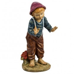 Resin Boy with Open Hands 125 cm Fontanini