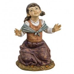 Resin Kneeling Little Girl 125 cm Fontanini