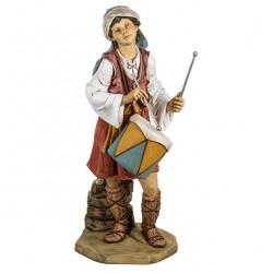 Resin Child Shepherd with Drum 125 cm Fontanini