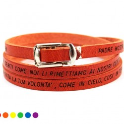 Lord's Prayer Leather Bracelet with Clasp