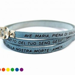 Hail Mary Leather Bracelet with Clasp