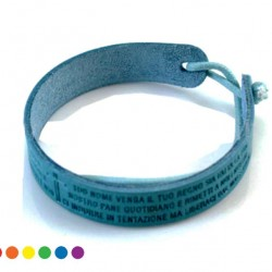 Lord's Prayer Leather Bracelet with String