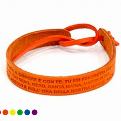 Hail Mary Leather Bracelet with String