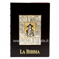 Jerusalem Bible Cover Leather and Silver 28.5x21x9 cm
