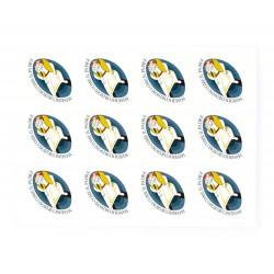 Sticker Jubilee of Mercy 12 items 4x2.8 cm