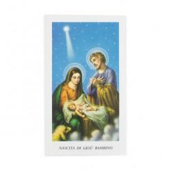 Nativity image with prayer 11x6 cm 100 units