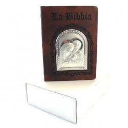 Leather Bible Holy Family Plaque 21x15 cm